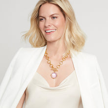 Julie Vos Honeybee Statement Necklace Iridescent Rose