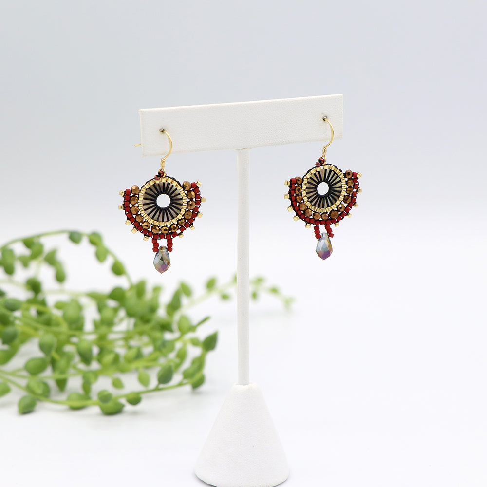 Collette Earrings Red