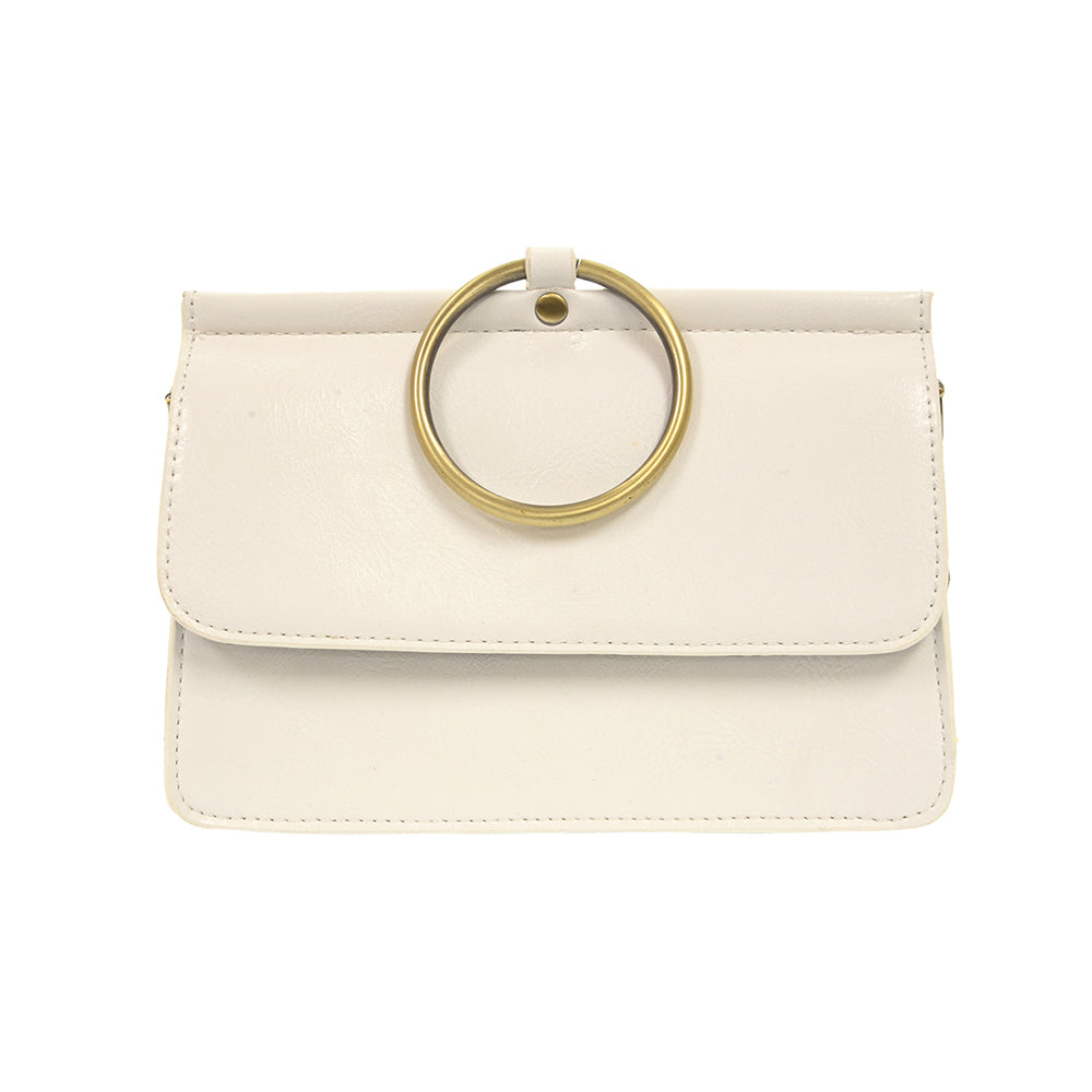 Joy Susan Aria Ring Bag White