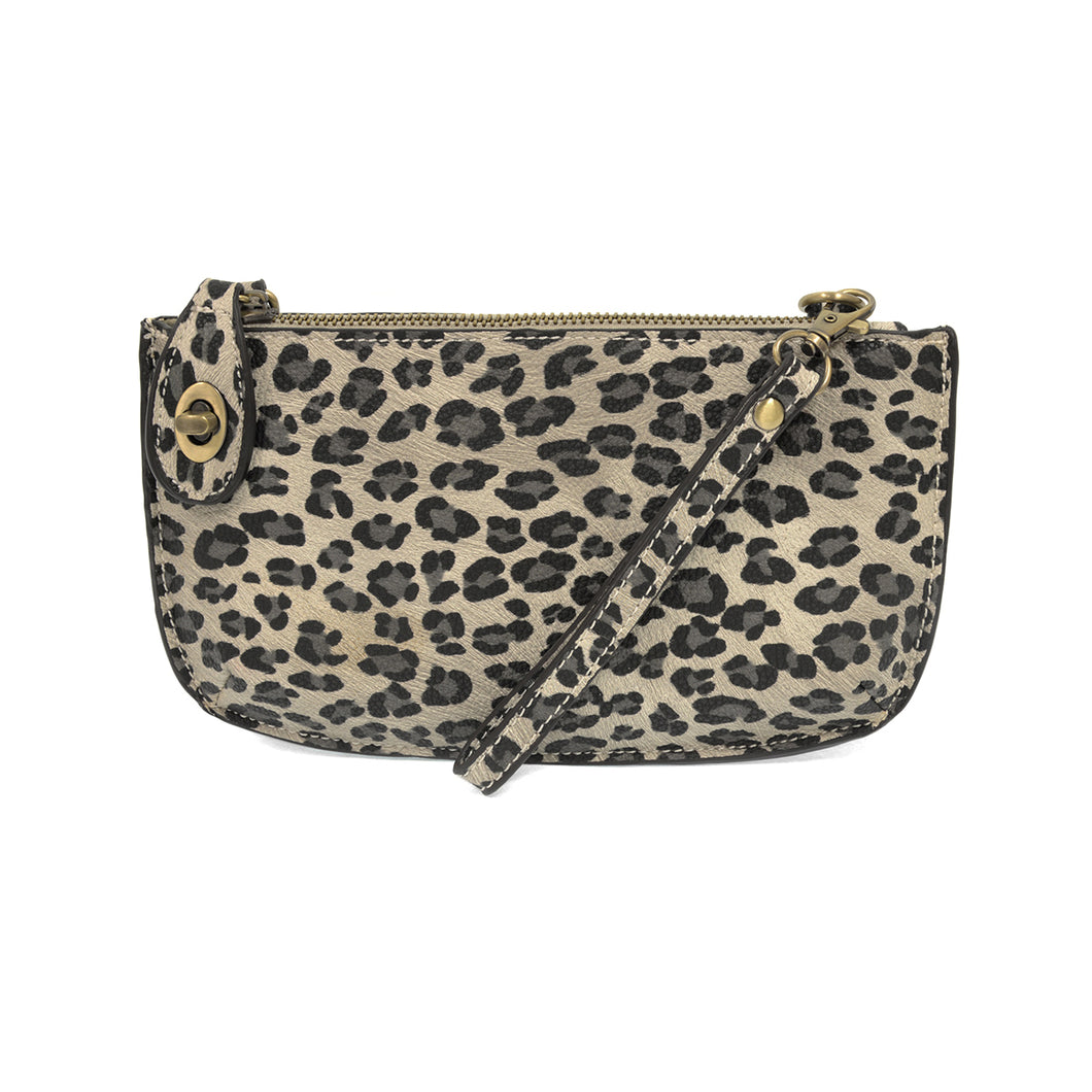 Joy Susan Leopard Crossbodies Gray