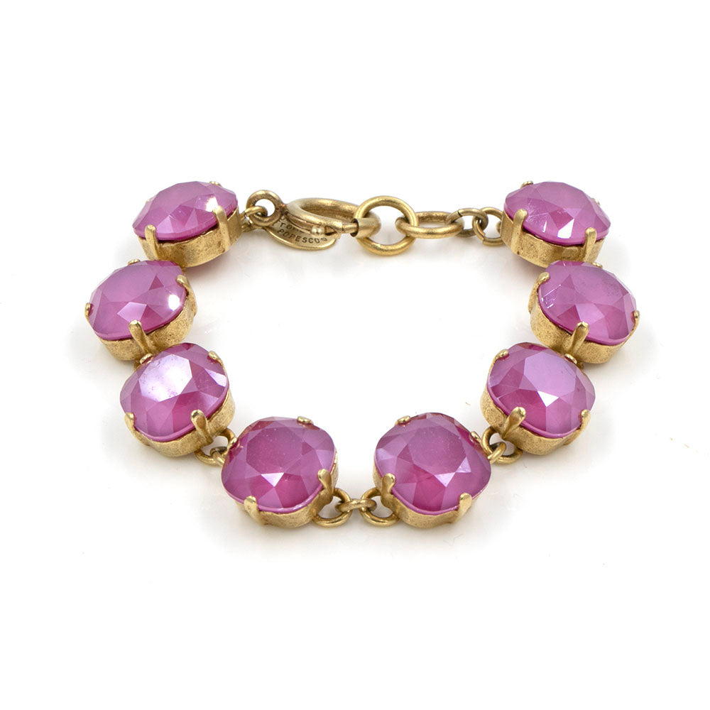 La Vie Parisienne Hot Pink Opal Bracelet in Gold
