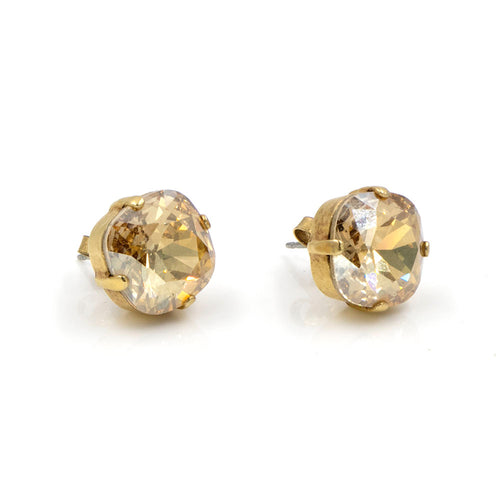 La Vie Parisienne Stud Earrings Champagne with Gold