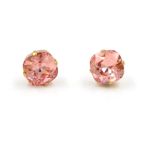 La Vie Parisienne Stud Earrings Coral with Gold