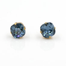 La Vie Parisienne Stud Earrings Montana Sapphire with Gold