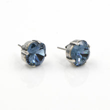 La Vie Parisienne Stud Earrings Montana Sapphire with Silver