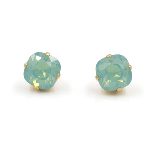 La Vie Parisienne Stud Earrings Pacific Opal with Gold