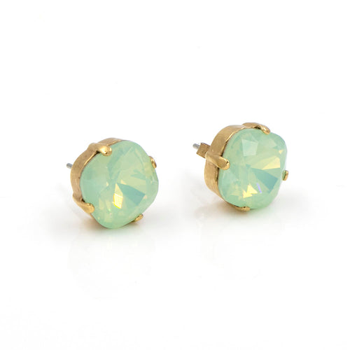 La Vie Parisienne Stud Earrings Sea Opal with Gold