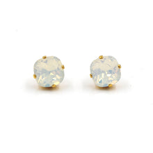 La Vie Parisienne Stud Earrings White Opal with Gold
