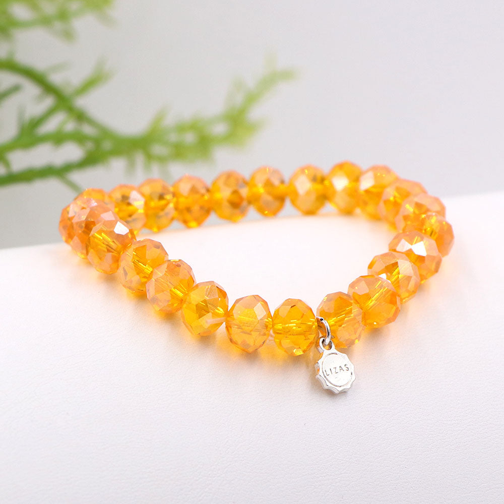 Lizas 10mm Crystal Bracelet Goldenrod