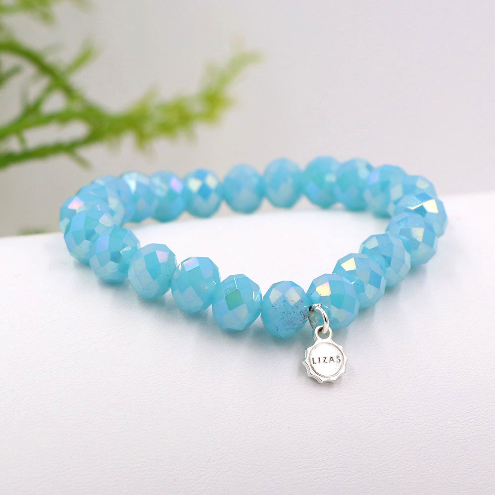 Lizas 10mm Crystal Bracelet Cool Mint