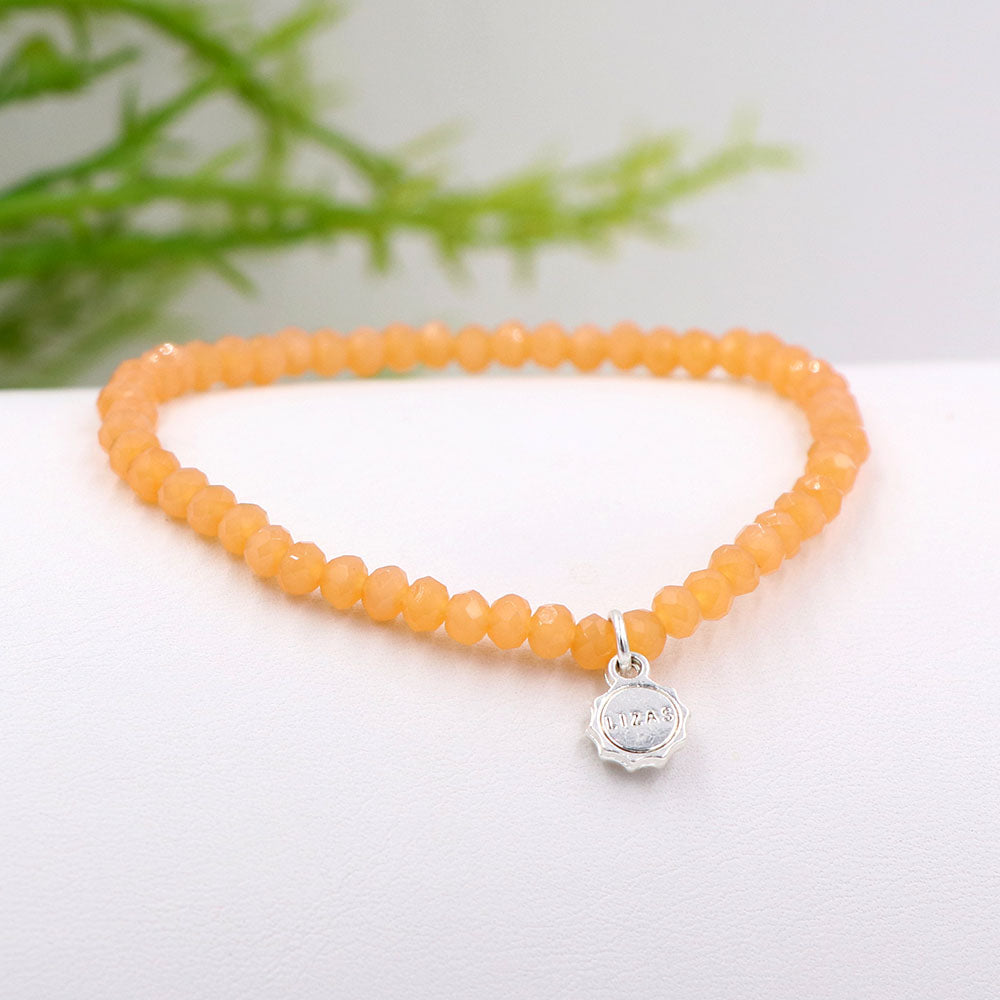 Lizas 4mm Crystal Bracelet Sunset Peach