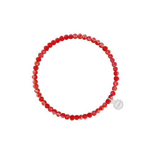 Lizas Knoxville 4mm Crystal Bracelet Red Coral