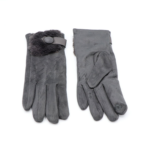 Luxe Suede Gloves Gray