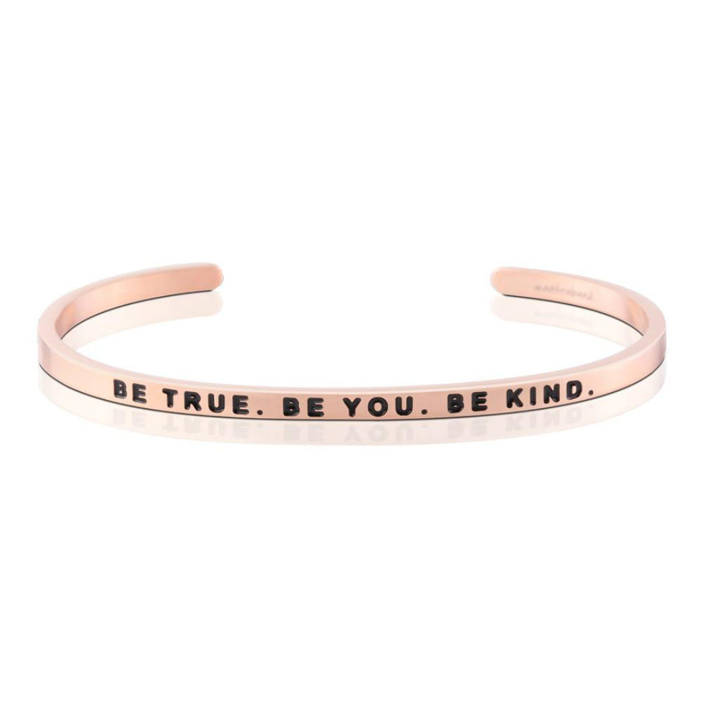 MantraBand Bracelet Be True Be You ... Rose Gold