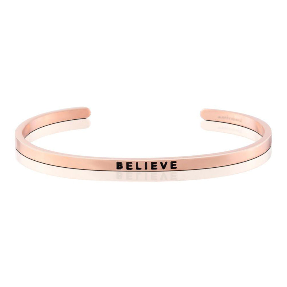 MantraBand Bracelet Believe ... Rose Gold