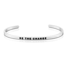 MantraBand Bracelet Be The Change ... Silver