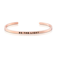 MantraBand Bracelet Be The Light ... Rose Gold