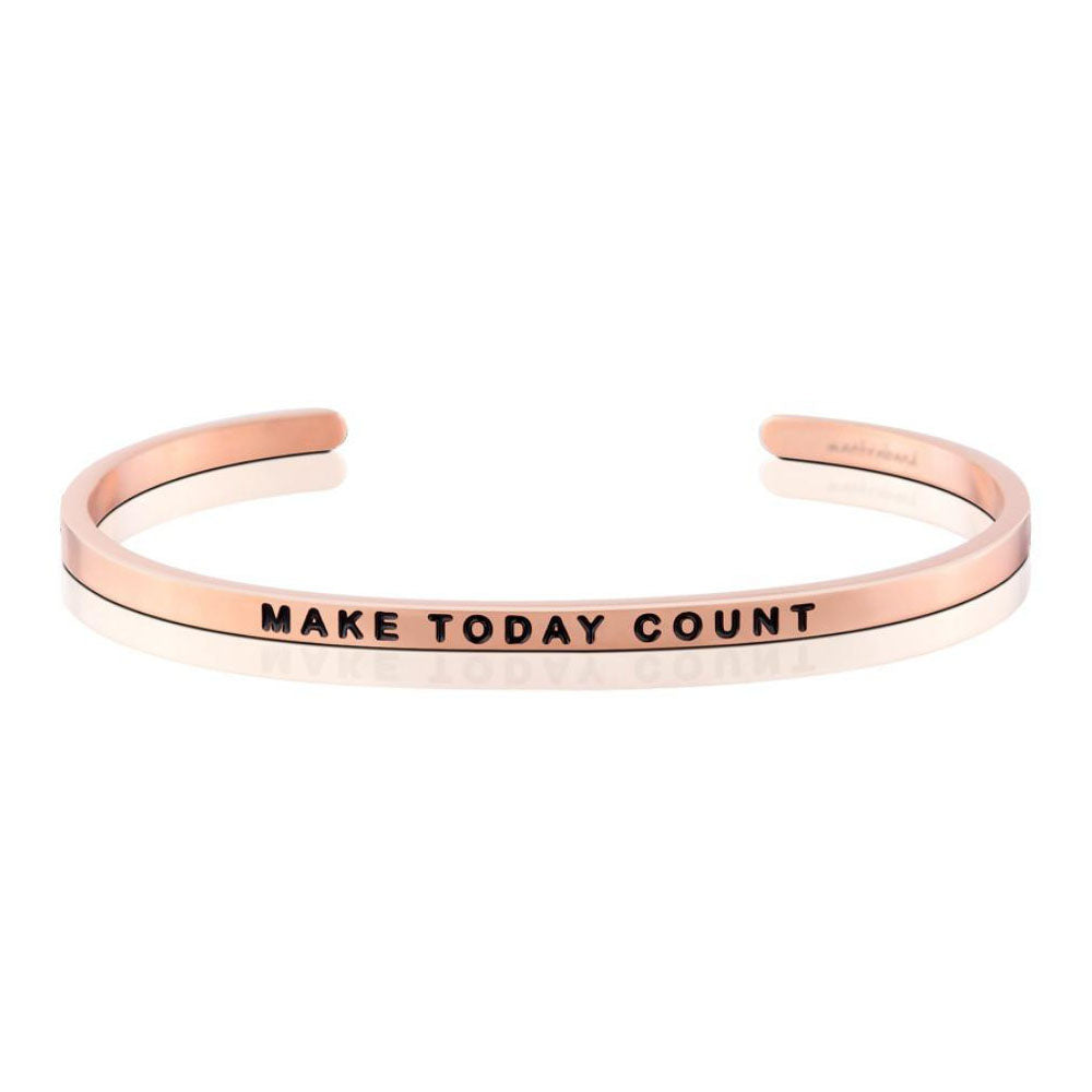 Mantra Band Make Today Count ... Rose Gold