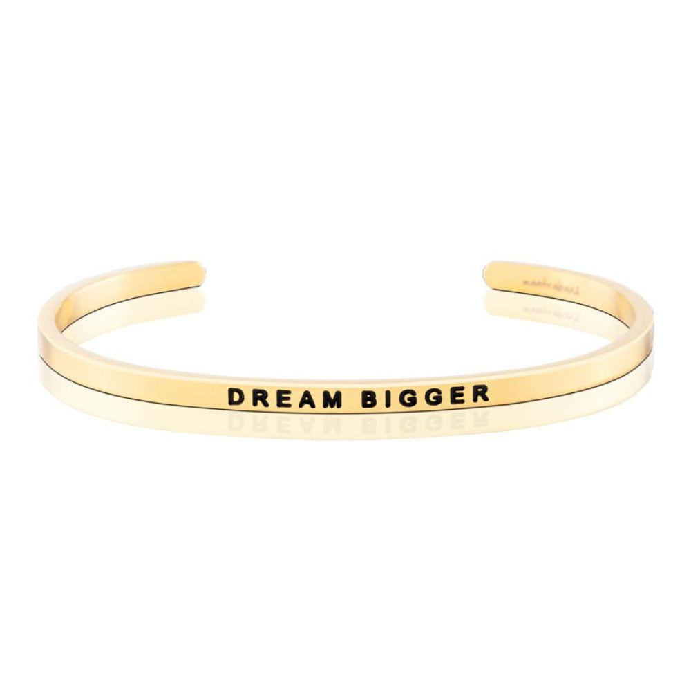 Mantraband Dream Bigger Bracelet ... Gold