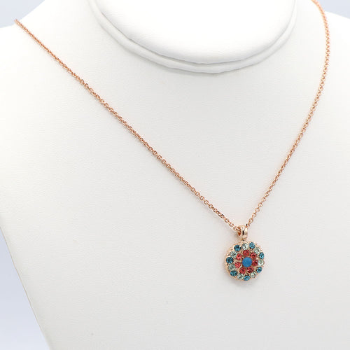 Mariana Guardian Angel Necklace Rose Gold: Bird of Paradise