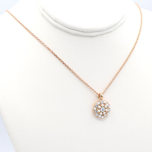 Mariana Guardian Angel Necklace Rose Gold: Pearl