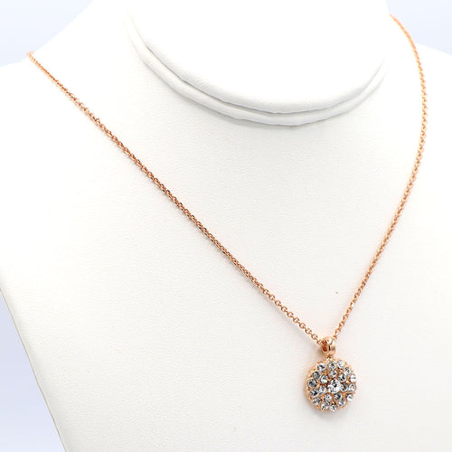 Mariana Guardian Angel Necklace Rose Gold: Crystal