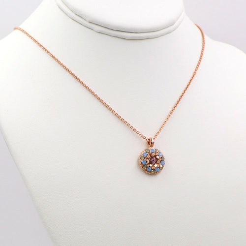 Mariana Guardian Angel Necklace Rose Gold: Floral Garden