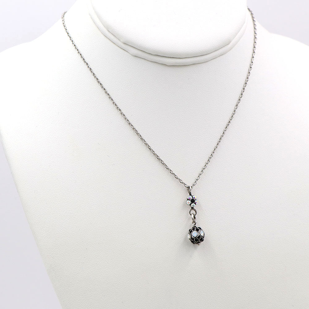 Mariana Petite Ball Necklace Onyx
