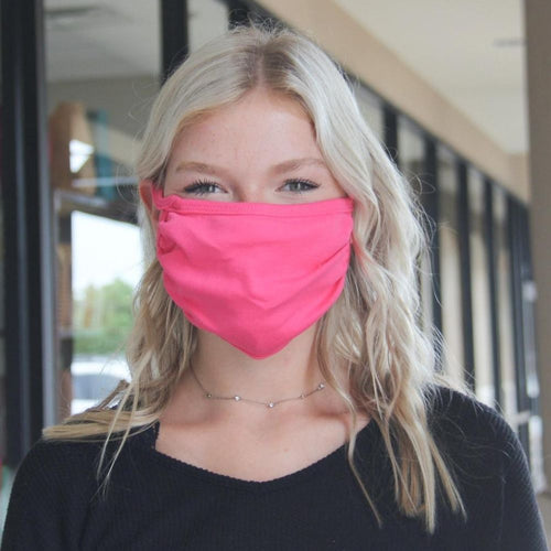 Face Mask - Canvas Hot Pink