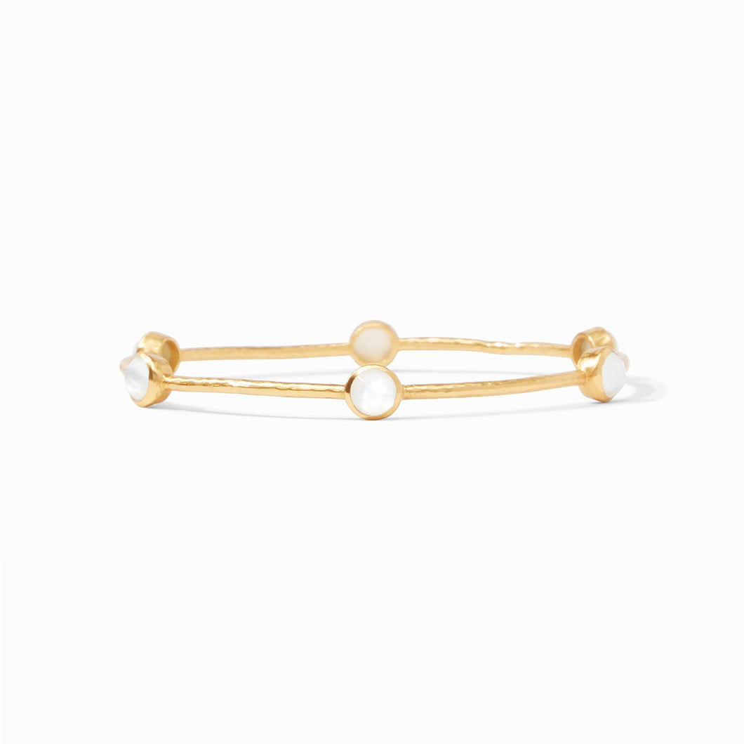 Julie Vos Milano Luxe Bangle Iridescent Clear Crystal