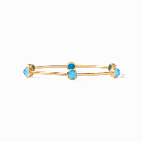 Julie Vos Milano Luxe Bangle Iridescent Pacific Blue