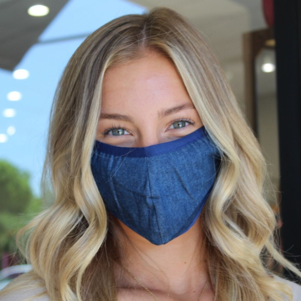 Face Mask - Dark Wash Denim