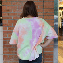 Oversized Vivid Tie Dye Top - Orange