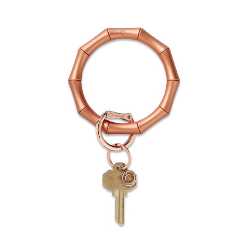Big O Silicone Key Ring: Rose Gold Bamboo