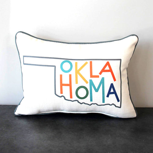 Oklahoma Multi Colored Pillow
