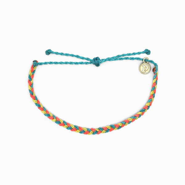 Pura Vida Mini Braided Bracelet Rainbow Sherbert