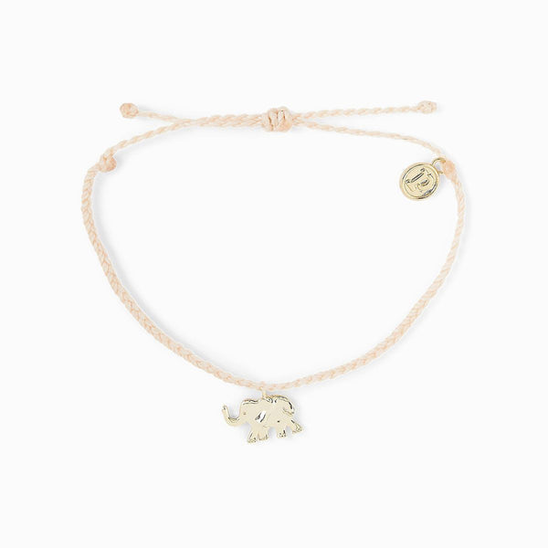Pura Vida Save the Elephants Charm Bracelet Silver