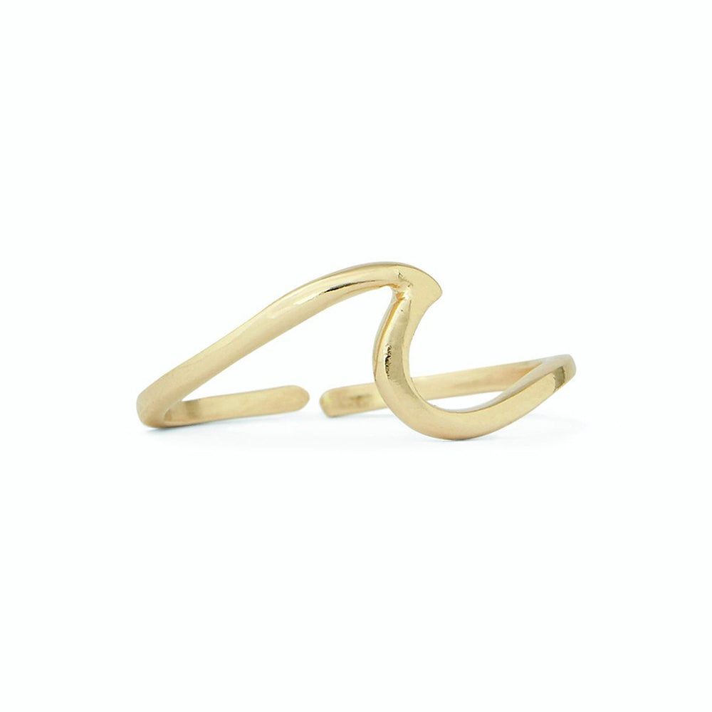 Pura Vida Wave Toe  Ring Gold