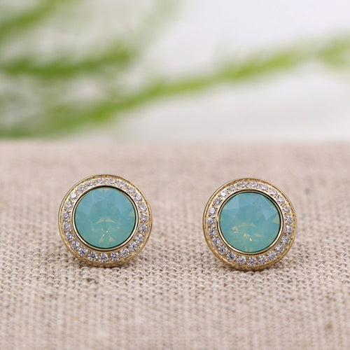 Qudo Tondo Deluxe Earrings Pacific Opal