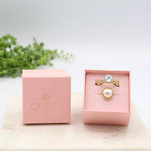 Qudo All That Glitters Ring Gift Set