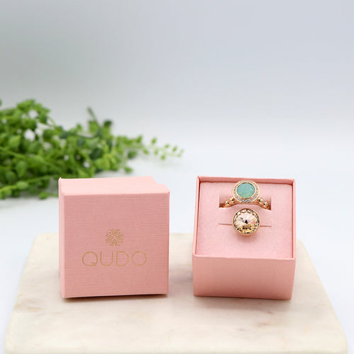Qudo Crystal Garden Ring Gift Set
