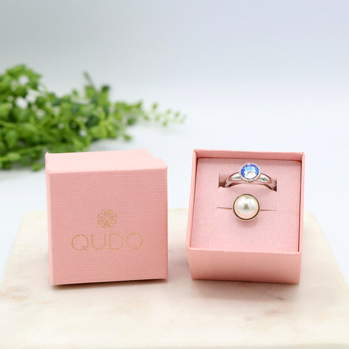 Qudo Ice Blue Ring Gift Set
