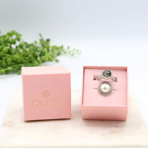 Qudo Stormy Skies Ring Gift Set