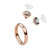 Qudo Rose Gold Sm Ring with Tondo Deluxe Top