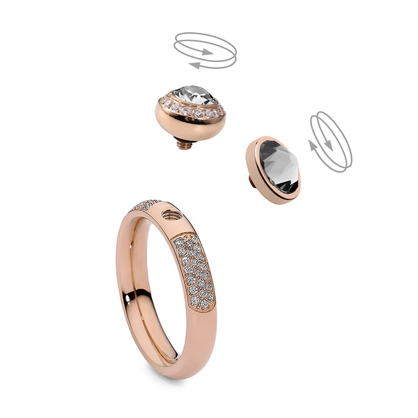 Qudo Rose Gold Deluxe Ring