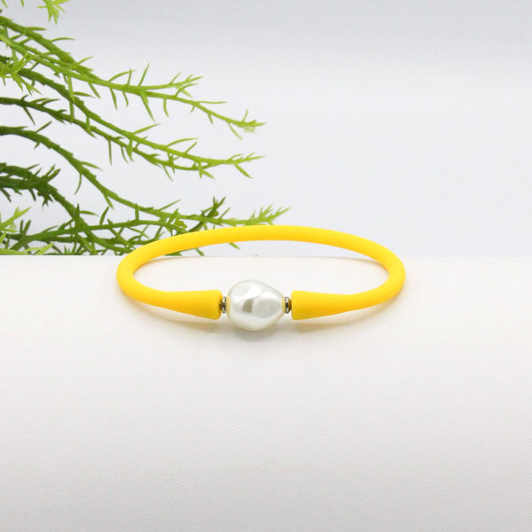 Savannah Silicone Bracelet Yellow