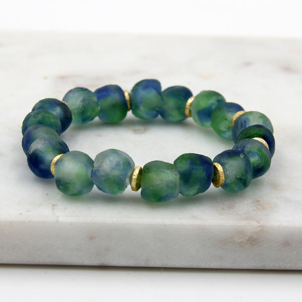 Sea Glass Bracelet Blue