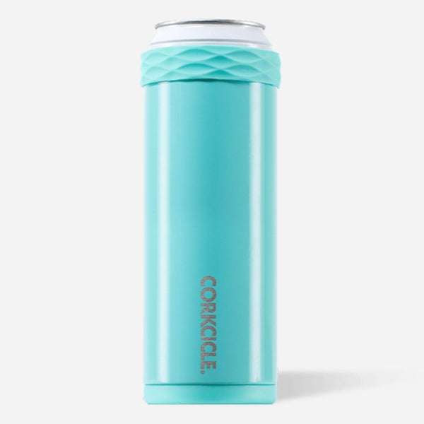 Corkcicle 12oz Slim Arctican Gloss Turquoise