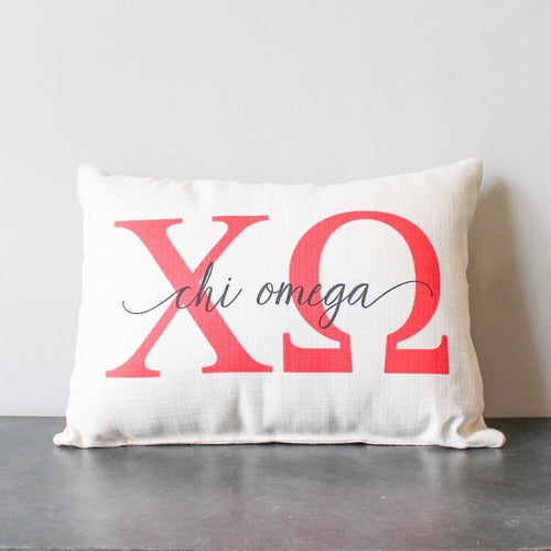 Chi Omega Pillow