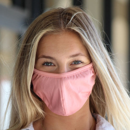 Face Mask - Solid Pink